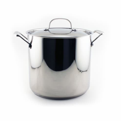 BergHOFF EarthChef Stainless Steel Covered Stockpot Perspective: front