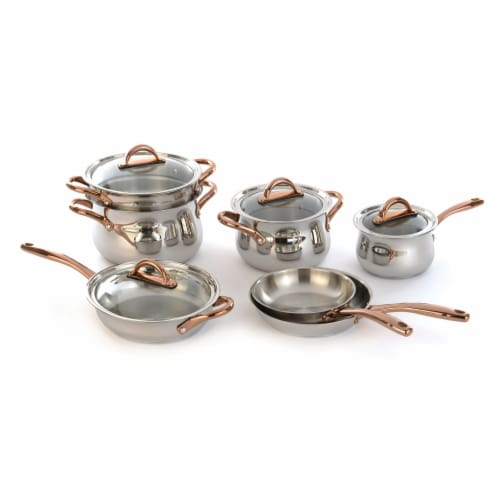 BergHOFF Ouro Gold Stainless Steel Cookware Set Perspective: front