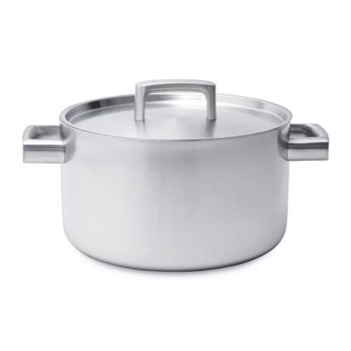 BergHOFF Stainless Steel 5-Ply Covered Stockpot Perspective: front