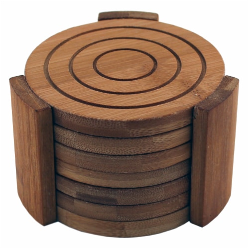 BergHOFF Bamboo Coaster Set Perspective: front