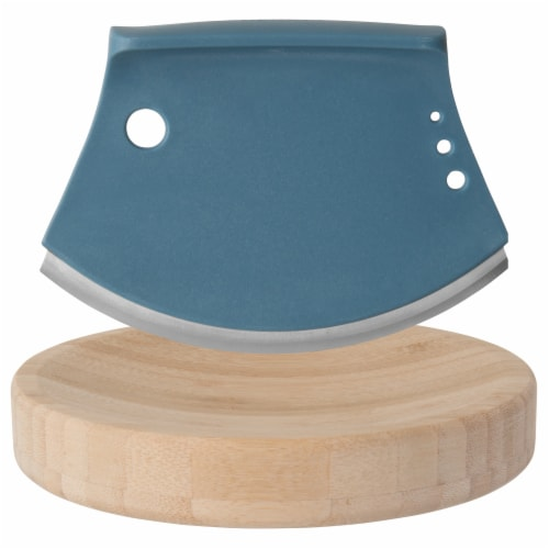 BergHOFF Leo Bamboo Herb Cutter Set - 2 Piece - Blue Perspective: front