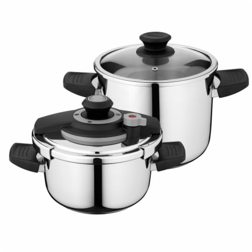 BergHOFF Stainless Steel Pressure Cooker Set Perspective: front