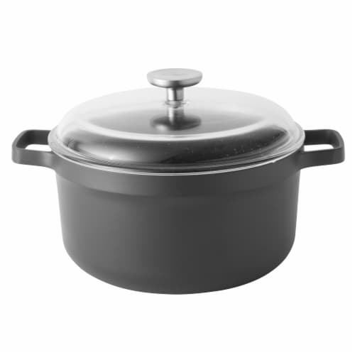 BergHOFF 10-Inch Cast Aluminum Covered Stock Pot Perspective: front
