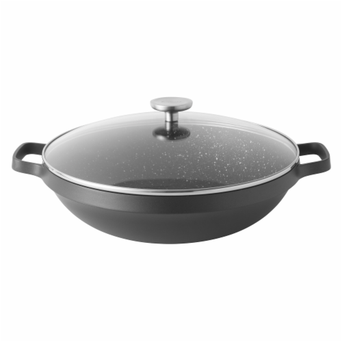 BergHOFF Gem Cast Aluminum Nonstick Covered Chinese Wok Perspective: front