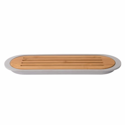 BergHOFF Leo Bamboo Baguette Cutting Board with Tray - Gray Perspective: front