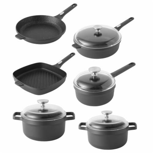 BergHOFF Cast Aluminum Nonstick Cookware Set - Gray Perspective: front