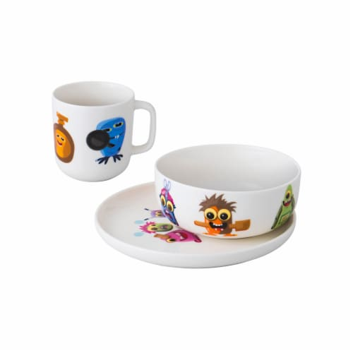 BergHOFF Essentials MonsterChefz Porcelain Dinnerware Set - White Perspective: front