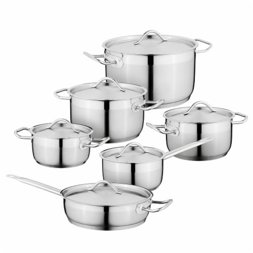 BergHOFF Stainless Steel Cookware Set Perspective: front