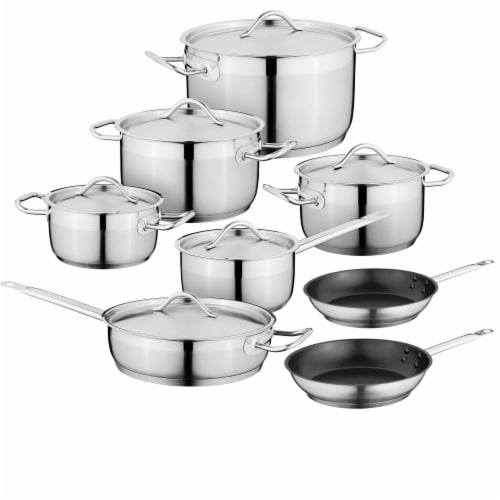 BergHOFF Essentials Hotel Stainless Steel Cookware Set Perspective: front