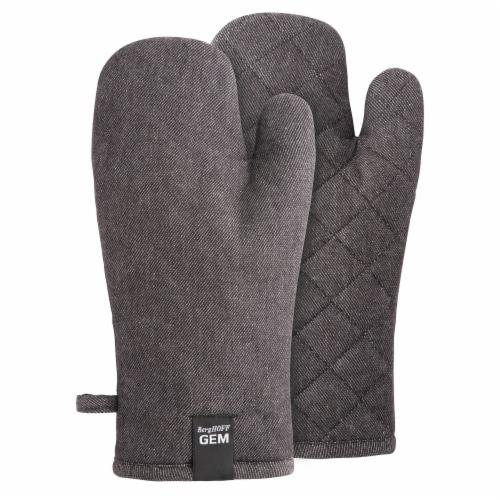 BergHOFF Gem Oven Glove Set - Black Denim Perspective: front