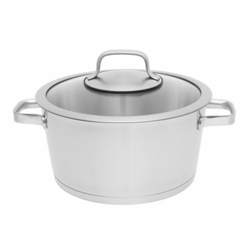BergHOFF Essentials Manhattan Stainless Steel Covered Stockpot Perspective: front