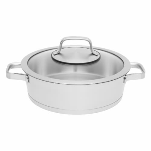 BergHOFF Stainless Steel Covered Deep Skillet Perspective: front