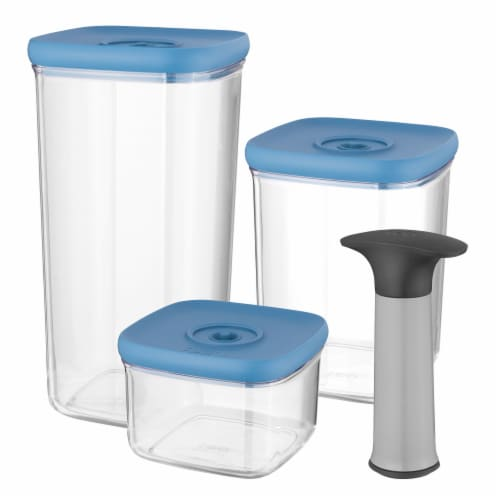 BergHOFF Leo Vacuum Food Container Set - Blue Perspective: front