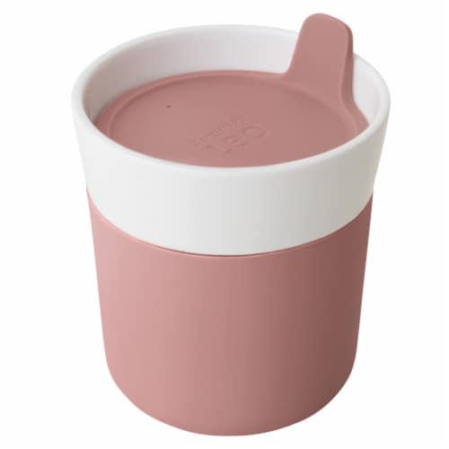 BergHOFF Leo Porcelain Travel Mug - Pink Perspective: front
