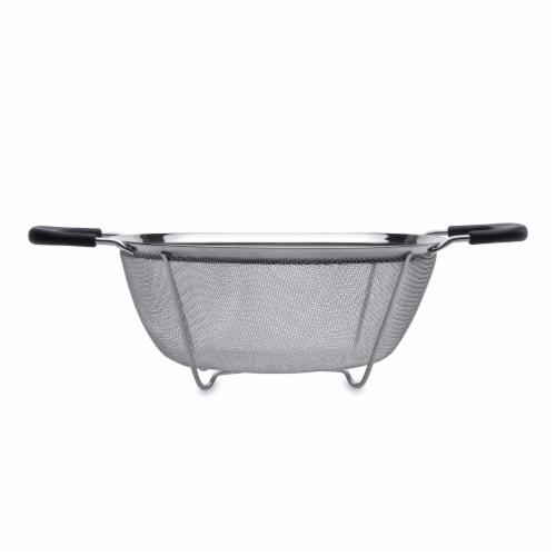 BergHOFF Essentials Stainless Steel Mesh Colander - Silver Perspective: front