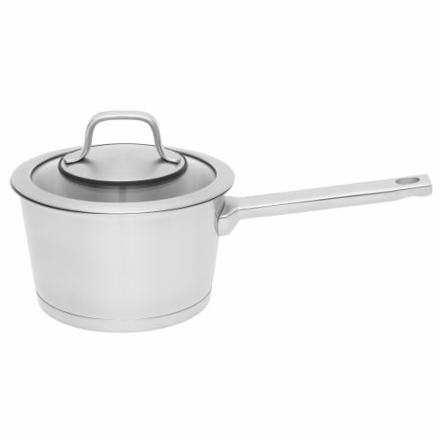 BergHOFF Essentials Manhattan Stainless Steel Covered Sauce Pan Perspective: front