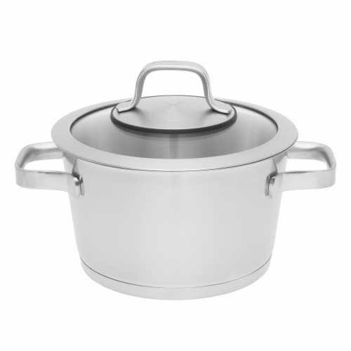 BergHOFF Essentials Manhattan Stainless Steel Covered Casserole Pot Perspective: front