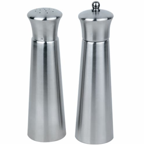BergHOFF Stainless Steel Pyramid Salt & Pepper Set Perspective: front