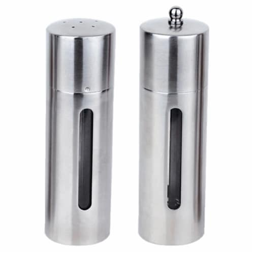 BergHOFF Stainless Steel Round Salt & Pepper Set Perspective: front