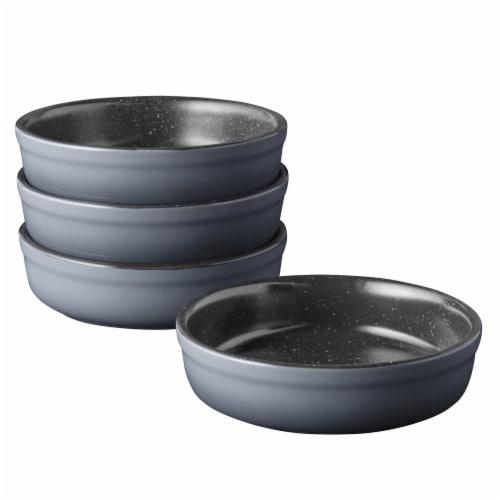 BergHOFF Gem Stoneware Crème Brûlée Ramekins - 4 Pack - Gray Perspective: front