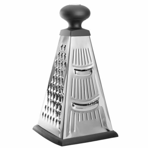 BergHOFF Essentials Stainless Steel 4-Sided Pyramid Grater Perspective: front