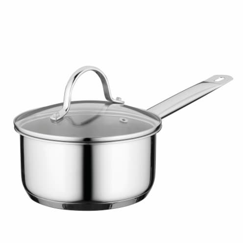 BergHOFF Essentials Stainless Steel Covered Comfort Saucepan Perspective: front