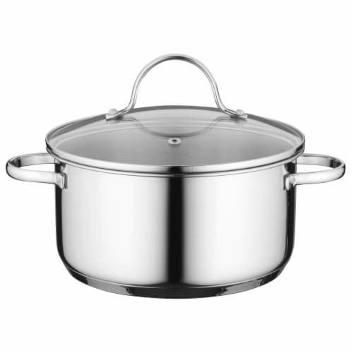 BergHOFF Stainless Steel Covered Casserole Pan Perspective: front