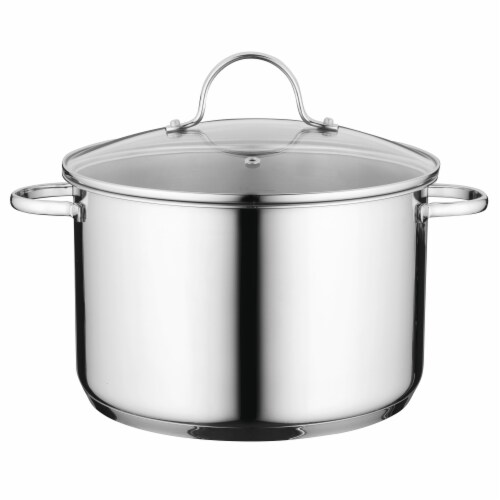 BergHOFF Stainless Steel Covered Stockpot Perspective: front