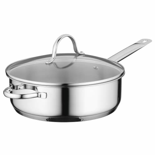 BergHOFF Essentials Comfort Stainless Steel Covered Deep Skillet Perspective: front