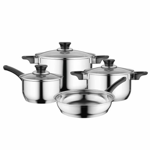 BergHOFF Essentials Gourmet Stainless Steel Cookware Set Perspective: front