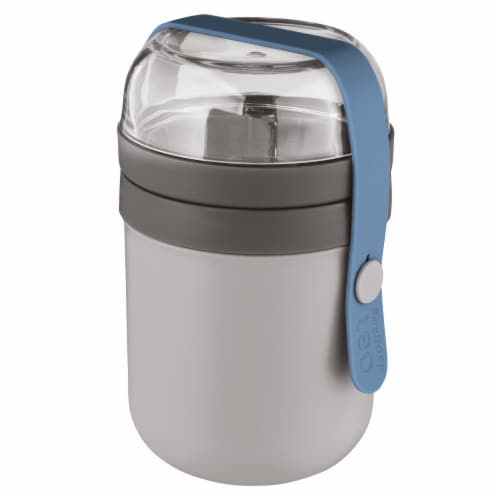BergHOFF Leo Dual Lunch Pot - Grey & Blue Perspective: front