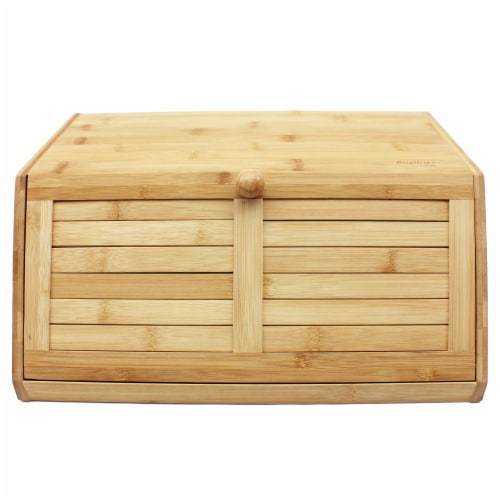 BergHOFF Bamboo Bread Box Perspective: front