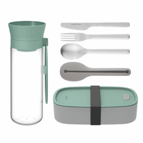 BergHOFF Leo Lunch Set - Grey & Green Perspective: front
