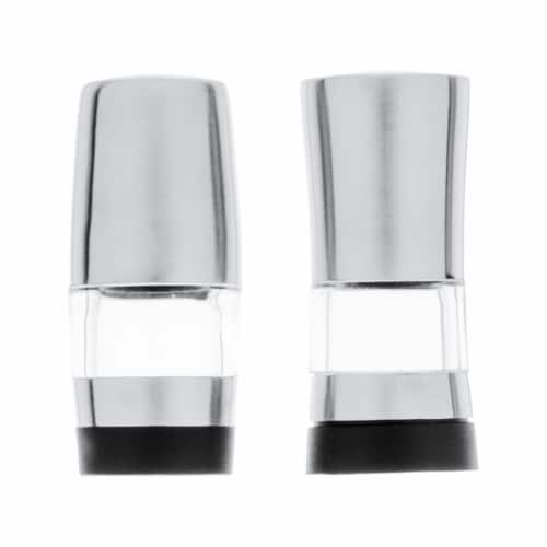 BergHOFF Geminis Stainless Steel Mini Salt & Pepper Dispensers Perspective: front