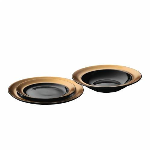 BergHOFF Gem Plate Set - Black/Gold Perspective: front