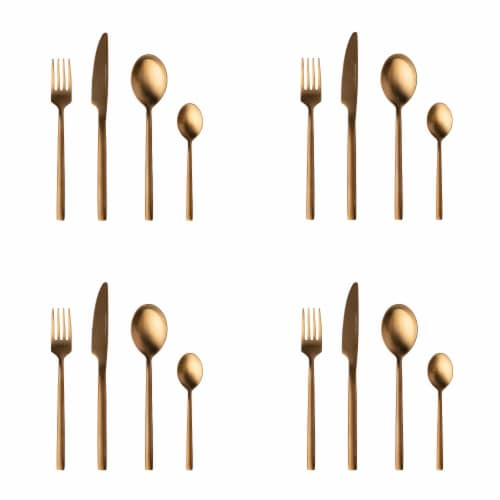 BergHOFF Flatware Set - Gold Plated Perspective: front