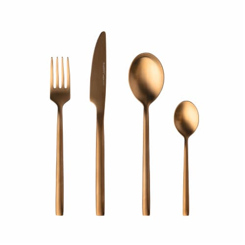 BergHOFF Gem Plated Flatware Set - Gold Perspective: front