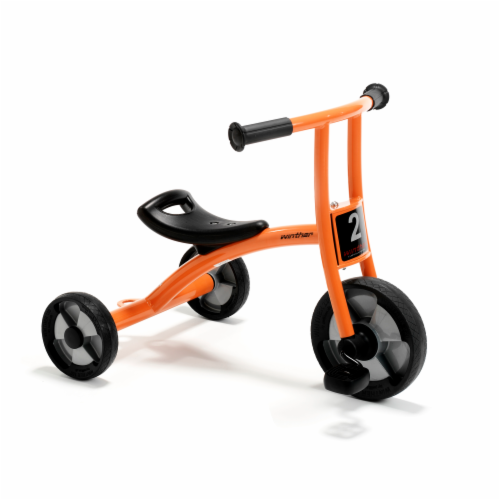 Winther Small Circleline Tricycle - Orange Perspective: front