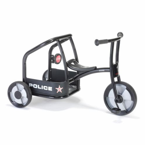 Winther Circleline Police Tricycle - Black Perspective: front