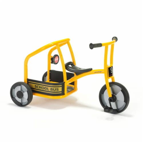 Winther Circleline School Bus Tricycle - Yellow Perspective: front