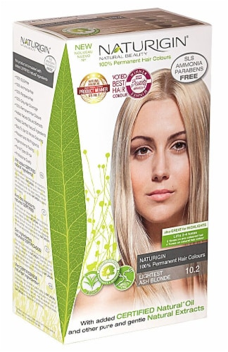 Naturigin  Permament Hair Color Lightest Ash Blonde 10.2 Perspective: front