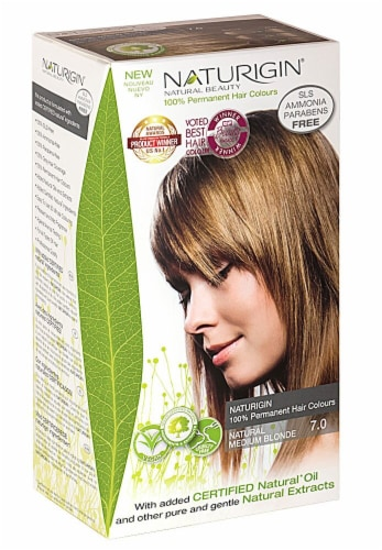 Naturigin  Permament Hair Color Natural Medium Blonde 7.0 Perspective: front