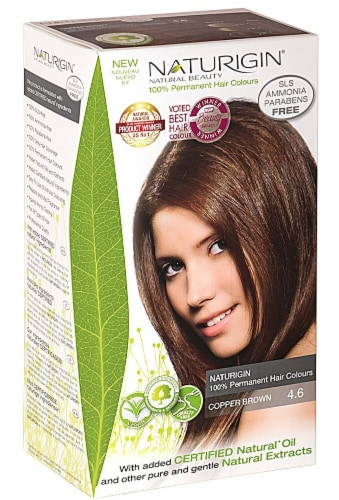 Naturigin  Permament Hair Color Copper Brown 4.6 Perspective: front