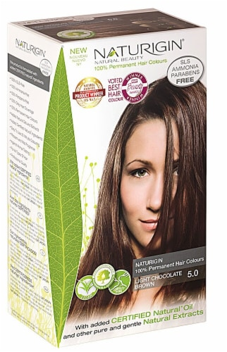 Naturigin  Permament Hair Color Light Chocolate Brown 5.0 Perspective: front