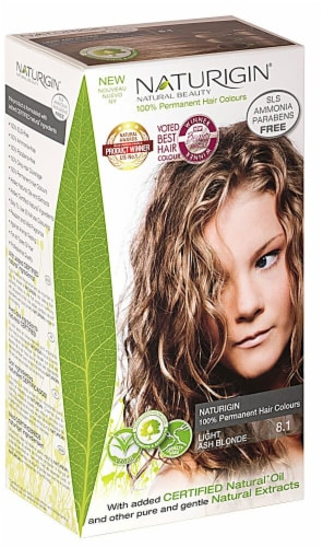 Naturigin  Permament Hair Color Light Ash Blonde 8.1 Perspective: front