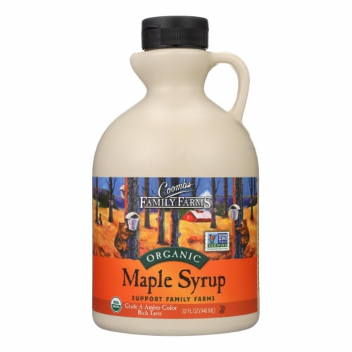 Coombs Family Farms Organic Maple Syrup - Case of 6 - 32 Fl oz. Perspective: front