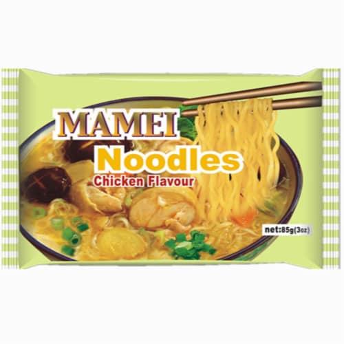 Mamei Chicken Flavor Noodles Perspective: front