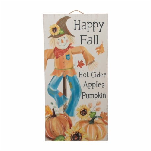 Glitzhome Wooden Autumn Harvest Scarecrow Home Decoration Perspective: front