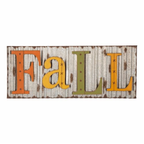 Glitzhome Fall Metal Sign Wall Decoration Perspective: front