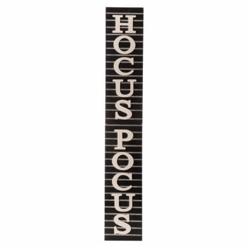 Glitzhome Halloween Wooden Hocus Pocus Sign Decor Perspective: front